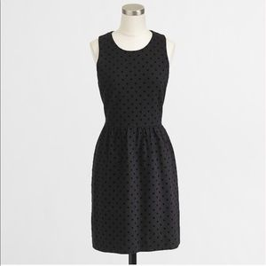 J. Crew Ponte Dress in Velvet Dot in Black Size XS